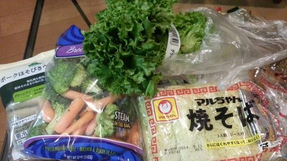 焼きそばの野菜